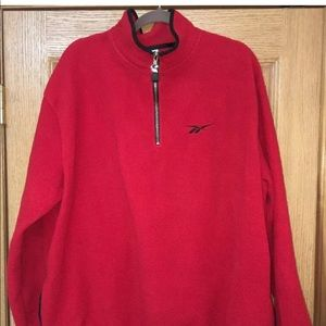 Reebok Pullover Fleece 1/3 Zip Mock Neck Pocketed
